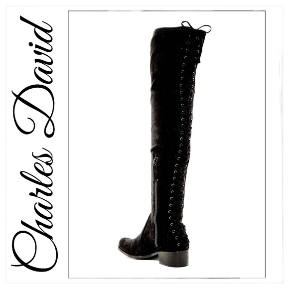 charles by charles david gannon corset over-the-knee boot